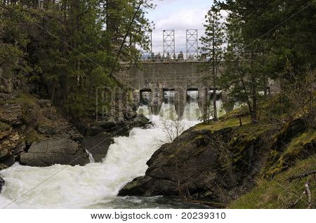 The Third Channel Dam Of The Spokane River At Post Falls, Id 2011