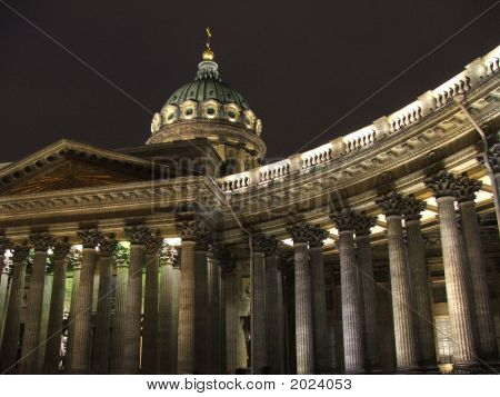 The Kazan Cathedral In St.-Petersburg In Russia