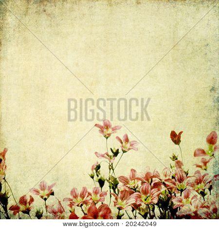erdig Hintergrundbild with floral Elements. nützliche Gestaltungselement.