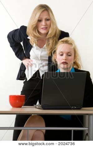 Two Women Coworkers