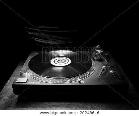 Dj Turntable In The Dark