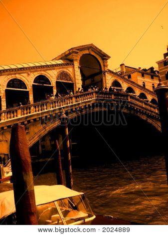 Rialto Bridge Sephia Venice