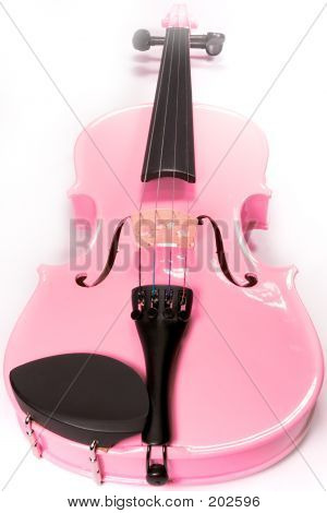 Full Pink Violin Isolated