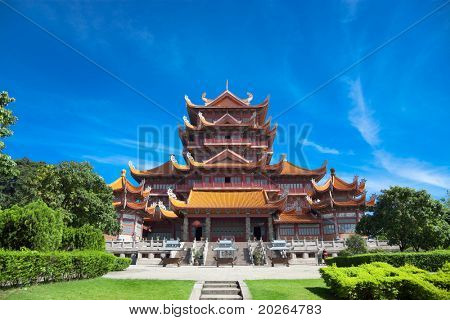 Temple of Xichan in Fuzhou,China. Xichan temple dating from thousand years ago is very famous place for  buddhism in southeast of China.
