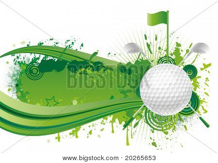 vector golf design elements