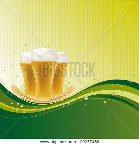 beer design element with wave