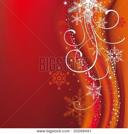 Постер, плакат: Рождественские фон с снежинки и украшения, холст на подрамнике