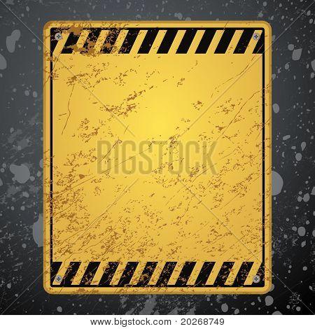antigo fundo de aviso listrado com textura