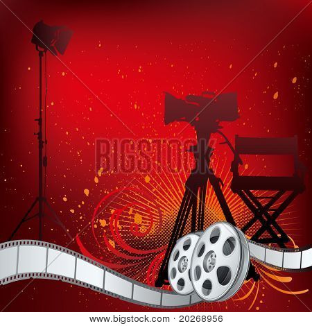 vector background movie theme illustration