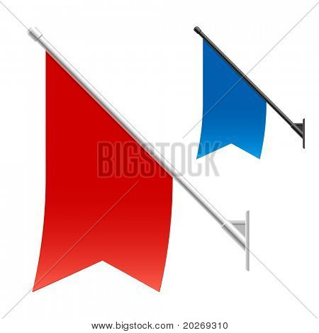 Wall flags. Vector.