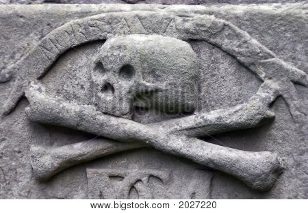 Crossbones On A Grave
