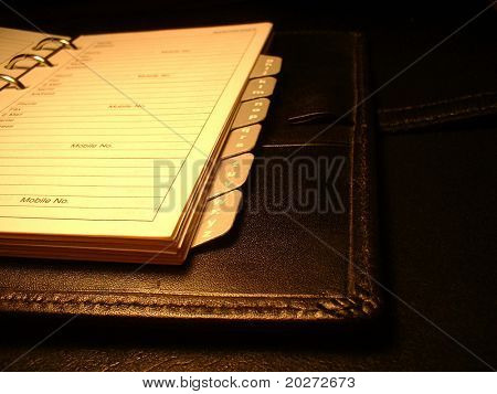 Diary, address book, phone book