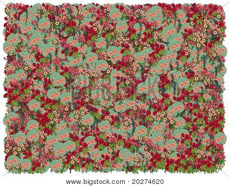 Colorific Floral background. From The Floral background series