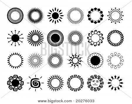 Abstract icons set #4. Isolated, black against white background