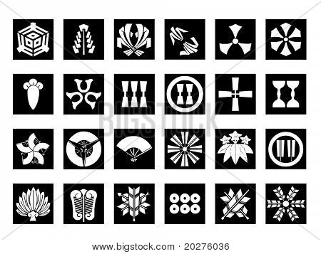 Abstract icons set #6. Isolated, black against white background
