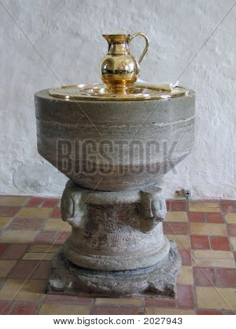 Baptismal Font In Full View