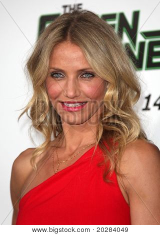 "LOS ANGELES - JAN 10:  Cameron Diaz arrives to Los Angeles Premiere of ""Green Hornet""  on January 10,2011 in Hollywood, CA"
