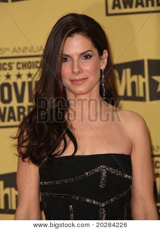 LOS ANGELES - JAN 10:  Sandra Bullock arrives to the 15th Annual Critics Choice Movie Awards  on January 10,2011 in Hollywood, CA