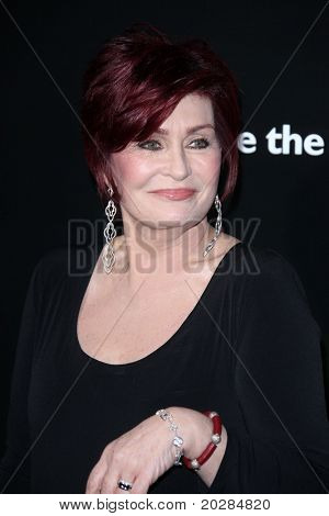 LOS ANGELES - JAN 13:  Sharon Osbourne arrives to Bvlgari Hosts Funraiser for Save The Children on January 13, 2011 in Los Angeles, CA.