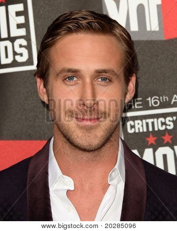 "LOS ANGELES - JAN 14:  Ryan Gosling arrives at the 16th Annual ""Critics"" Choice Movie Awards  on January 14, 2011 in Los Angeles, CA"