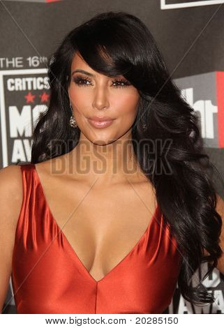 "LOS ANGELES - JAN 14:  Kim Kardashian arrives at the 16th Annual ""Critics"" Choice Movie Awards  on January 14, 2011 in Los Angeles, CA"