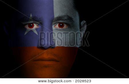 Chilean Flag - Male Face