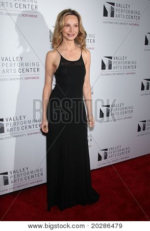 LOS ANGELES - JAN 29:  Calista Flockhart arrives to the Valley Performing Arts Center Opening Gala  on January 29,2011 in Northridge, CA