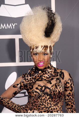 LOS ANGELES - FEB 13: Nicki Minaj arrives at the 2011 Grammy Awards  on February 13, 2011 in Los Angeles, CA