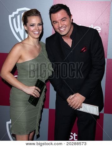LOS ANGELES - JAN 16:  Seth MacFarlane arrives at the 12th Annual WB-In Style Golden Globe After Party on January 16, 2011 in Beverly Hills CA