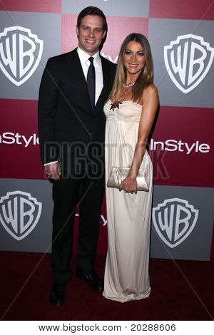 LOS ANGELES - JAN 16:  Natalie Zea & Travis Schuldt arrives to the 12th Annual WB-In Style Golden Globe After Party  on January 16, 2011 in Beverly Hills CA