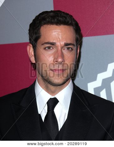 LOS ANGELES - JAN 16:  Zachary Levi arrives to the 12th Annual WB-In Style Golden Globe After Party  on January 16, 2011 in Beverly Hills CA