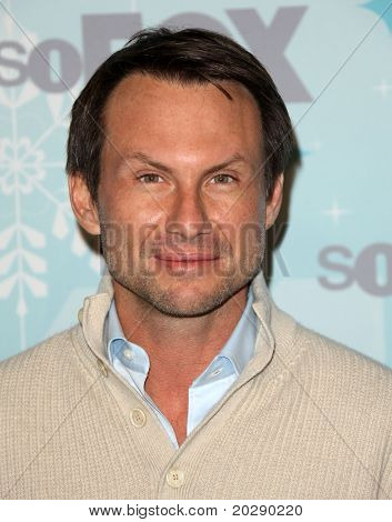 PASADENA, CA - JAN 11:  Christian Slater arrives at the FOX All-Star Party  on January 11, 2011 in Pasadena, CA