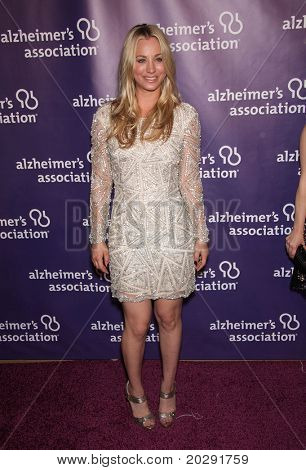"""LOS ANGELES - MAR 16:  Kaley Cuoco arrives at the 19th Annual """"A Night at Sardi's"""" Fundraiser & Awards on March 16, 2011 in Beverly Hills, CA"""