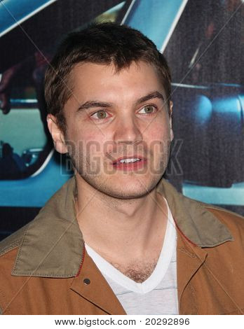 LOS ANGELES - MAR 22:  Emile Hirsch arrives to 'His Way' Los Angeles Premiere  on March 23,2011 in Hollywood, CA