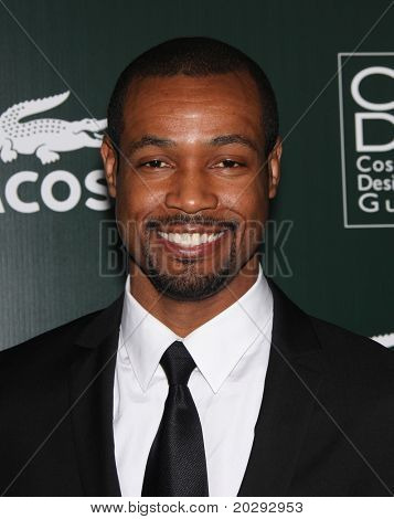 LOS ANGELES - FEB 22:  Isaiah Mustafa arrives to the 13th Annual Costume Designers Guild Awards  on February 22,2011 in Hollywood, CA