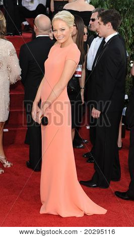 LOS ANGELES - JAN 16:  Emma Stone arrives to the 68th Annual Golden Globe Awards  on January 16, 2011 in Beverly Hills, CA