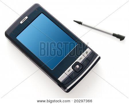 Pocket PC isolated on white background