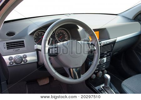 Driver's seat of the modern car