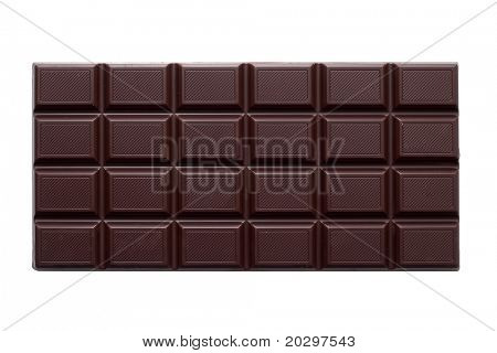 Chocolate is isolated on a white background