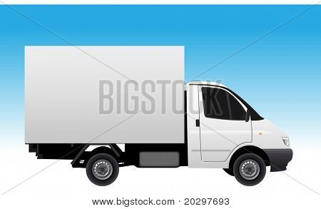 Commercial vehicle (delivery car) vectror illustration