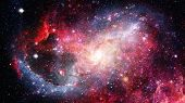 Galaxy And Nebula. Space Background. Elements Of This Image Furnished By Nasa poster