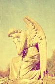 stock photo of cherubim  - retro image of a cherubim - JPG