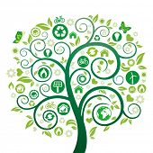 pic of heart shape  - green tree illustration - JPG