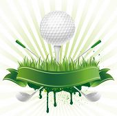 picture of golf  - vector golf sport design element - JPG