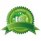 Постер, плакат: вектор Зеленый Эко икона