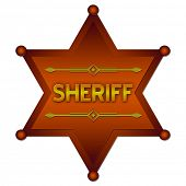 stock photo of criminology  - Sheriff abstract badge - JPG
