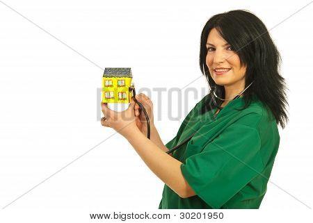 Doctor Examine House Miniature