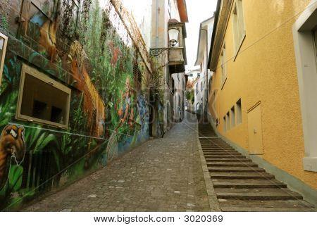 Alley In Zurich