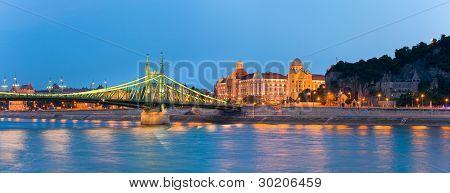 Panorama de noite de Budapeste