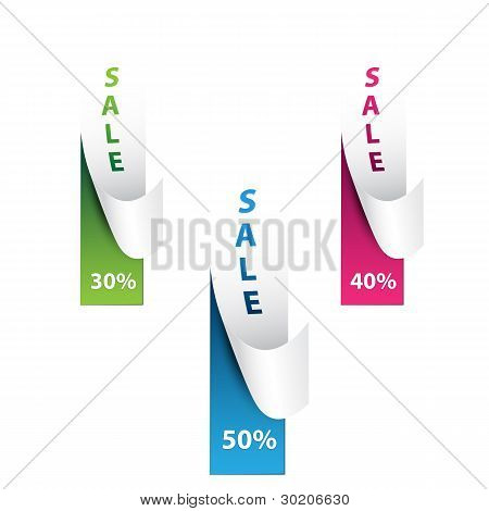 50% Sale Percents Label